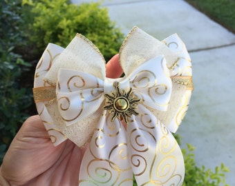 Tangled wedding dress inspired hairbow