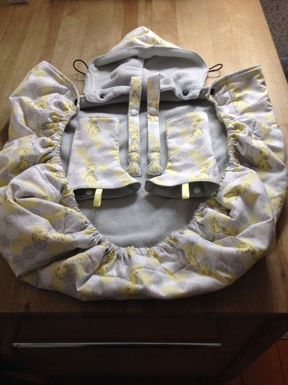 Cozy winter baby carrier cover set