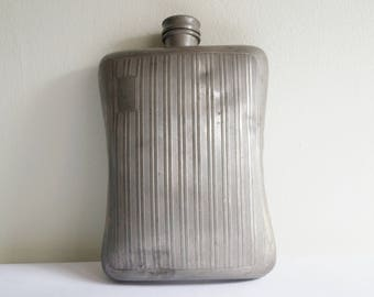 Large Drinking Flask 24 OZ Pewter Flask Pewter Canister Made in England Pewter Container Big Hip Flask