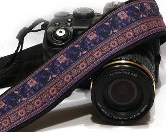 Camera Strap. Lucky Elephants Accessories. For Photographer. dSLR Camera Strap. Canon, Nikon Camera Strap. Camera Accessories.