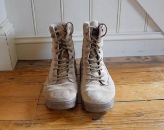 Tan Combat Boots