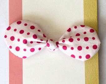 Fabric Knot Bow - One Size - Nylon Headband -