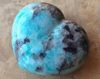 Amazonite heart- 152 g