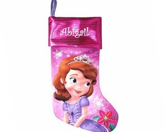 Personalized Disney's Sofia the First Christmas Stocking
