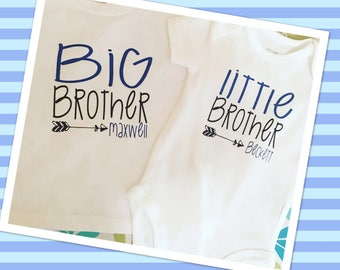 BIG Brother/LITTLE Brother SHIRT Set!!!! With Children's Names!!!!