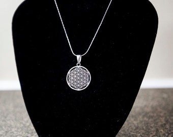 Flower of Life Necklace/ Sacred Geometry Necklace/ Energy Jewelry