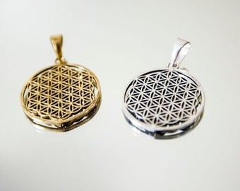 Flower of Life Pendant/ Flower of Life Jewelry/ Flower of Life Grid/ Jewelry Silver or Gold