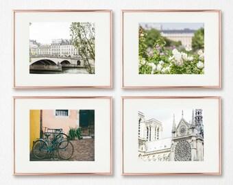 Paris Art Decor, Gallery Wall Prints, Set of 4, French Photography, Large Wall Art Decor, 5x7, 8x10, 8x12, 11x14, 11x17, 16x20