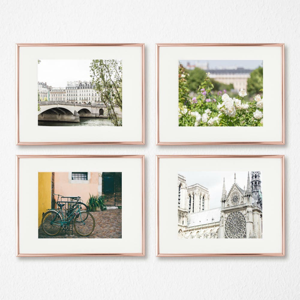 Paris Art Decor Gallery Wall Prints Set Of 4 French