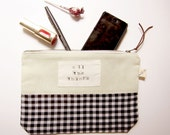 Custom Bridesmaid Zip Pouch Set for Whitney