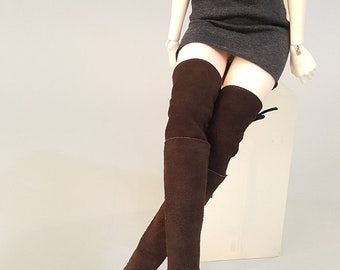 MSD_Brown Thigh High Boots