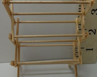 Dollhouse Miniature Folding Clothes Drying Rack, Large #ITM201