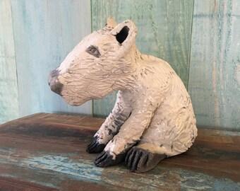 Ceramic raku baby capybara
