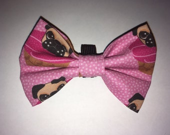 pug pugcake bow tie