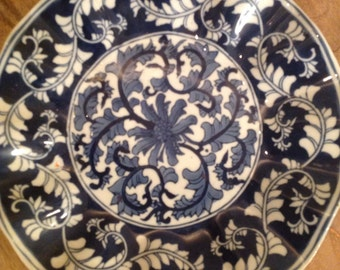 Beautiful Ruffled Edge Decorator Plate