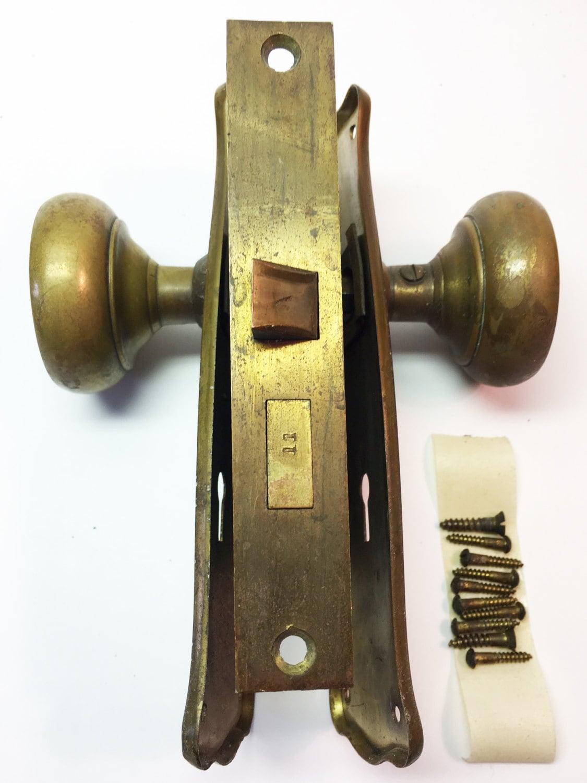 Brass Door Knob Vintage Door Knob Doorknob Antique Knobs Old Door Knobs Door Knob Set Knobs For