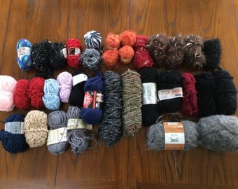 Mixed lot of yarn   About 4.5 lbs!