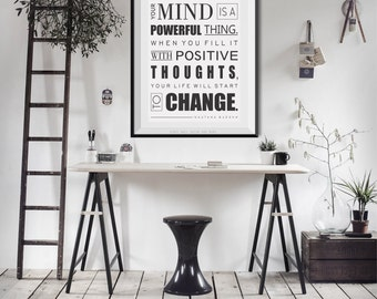 Your Mind is a Powerful thing- Law of attraction print