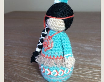 MADE TO ORDER. Child (Ayasha) 10cm. Handmade Crochet.