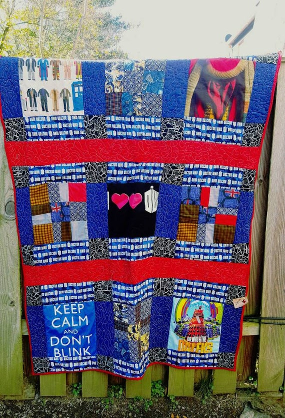 Dr. Who teeshirts quilt throw
