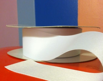 """White 1.5"""" grosgrain ribbon. Only 65 cents per yard or less!  1, 3 or 5 yds."""