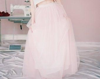 Beth // Bridal skirt - bridal separates - wedding skirt - long tulle skirt - ball skirt - color tulee skirt - milamira - tulle wedding gown