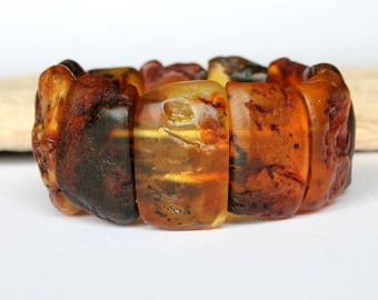 Amber men bracelet, massive amber jewelry, genuine Baltic amber, matte organic amber bracelet, natural amber jewelry, fashion men bracelet