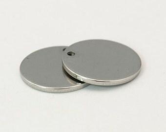 Circle Blanks Metal Stamping Blanks Stainless Steel Blanks Circle Charms Circle Pendants Engraving Blanks Blank Charms
