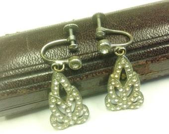 Vintage, Art Deco, paste earrings.