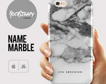 Marble iPhone 7 case Custom Name, personalised 8 Plus, iPhone 6s, 6 Plus, SE, 5C, 5S, case, personalized Samsung Galaxy S6, S7, S8, S5