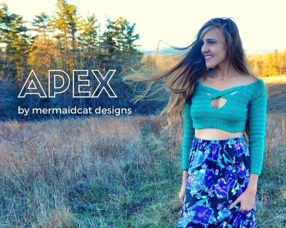 Sexy crochet crop top sweater pattern - Apex