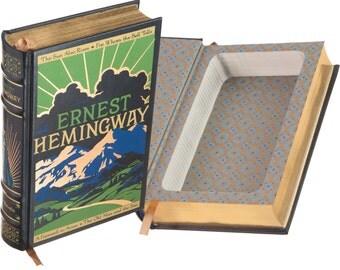 Hollow Book Safe - Ernest Hemingway (Leather-bound) (Magnetic Closure)