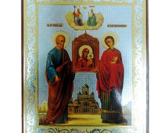 Simon and Panthelimon russian icon - #36bb