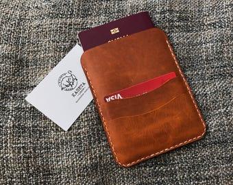 Leather Passport Sleeve Wallet