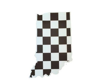 Checkered Flag Indiana Sticker