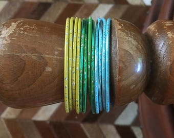 Set of colorful Indian bangles