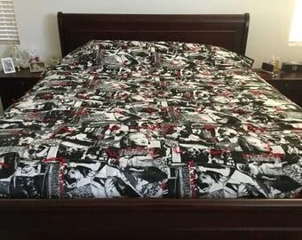 Elvis Presley and Marilyn Monroe California king blanket
