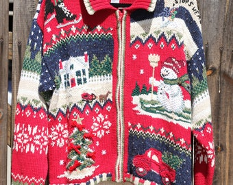 Vintage 1980s Heirloom Collectibles Ugly Christmas Sweater