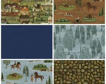 Country Store Fabric Fat Quarter Bundle - 6 prints