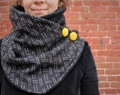 Neck warmer,  scarf, women scarf, upcycled clothing, zel ecodesign