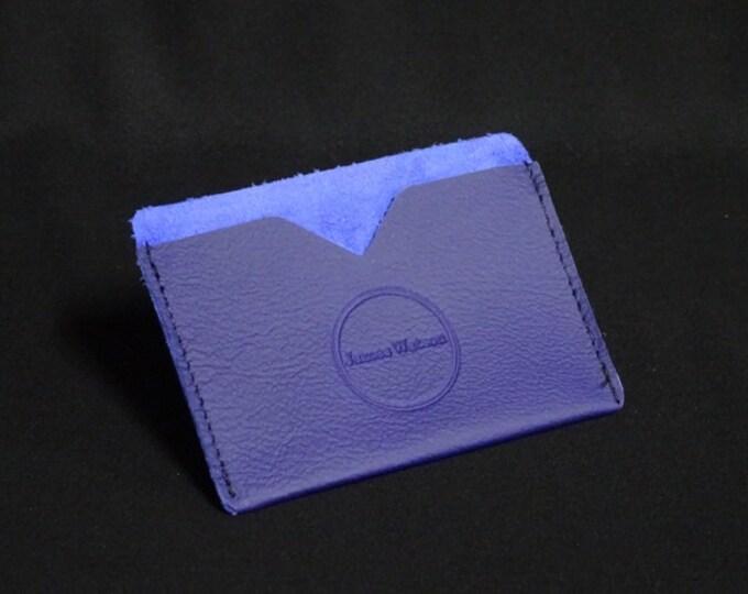 Pocket Wallet - Purple - Kangaroo leather with RFID credit card blocking - Handmade - James Watson