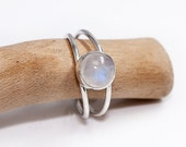 Moonstone Ring in Sterling Silver  June Birthstone Ring   Moonstone Silver Jewelry  Moonstone Jewellery  925 Silver Ring