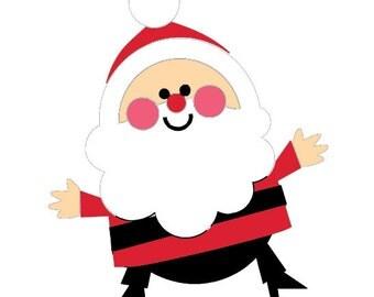 6 Cricut Die Cut Embellishments Christmas Santa