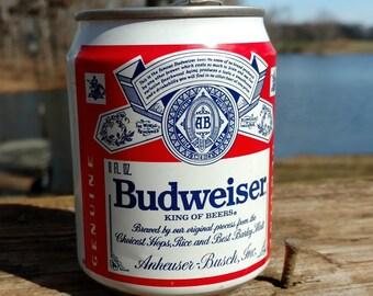On Sale Short Budweiser 8oz Can (Empty) Sta-Tab Aluminum/Man Cave/Retro/Bar Decor