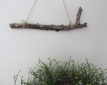 """16"""" Gnarled Driftwood Piece - Hanging Driftwood Beach Decor - Drift Wood Wall Art - Sturdy Driftwood Branch For Macrame"""
