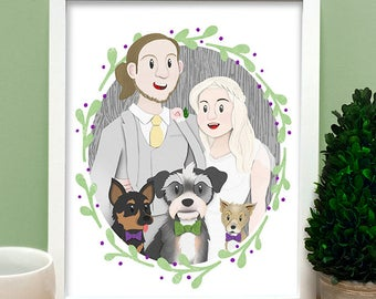 Custom Commissions Portraits, Great for Gifts