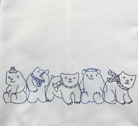 Tea towel, polar bears