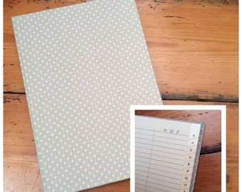 Large Address Book covered in Tilda Fabric