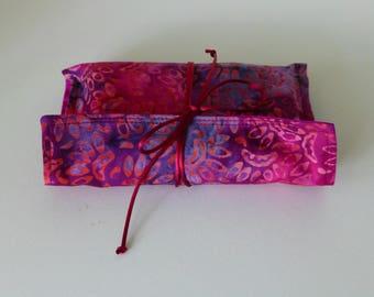 Silk Tarot Bag, Tarot Card Bag, Tarot Card Wrap, Batik Tarot Card Wrap, Batik Leaf Tarot Bag, Silk Tarot Card Bag, Batik Tarot Bag,