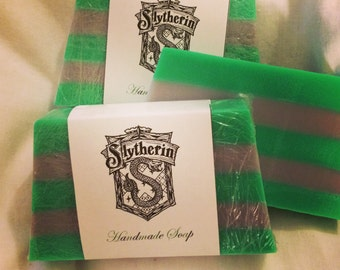 Harry Potter inspired Slytherin soap